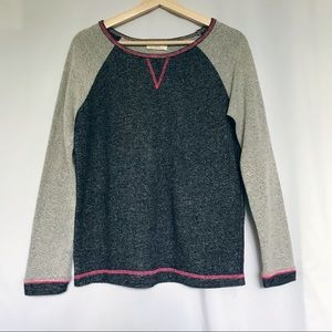 4/$25 Bobbie Brooks ladies gray crew neck sweater